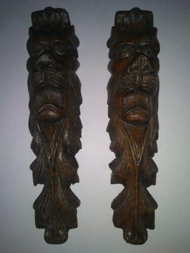 Lionhead wooden cabinet trim