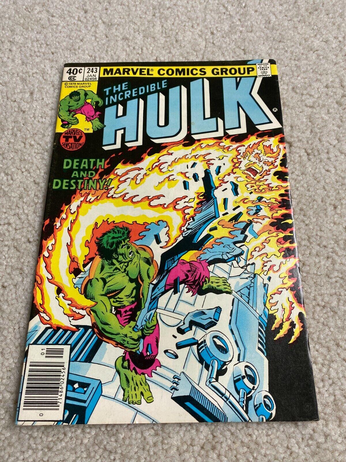 Incredible Hulk 243 VF 8.0 High Grade Tyrannus Goldbug Luke Cage  - $1.30