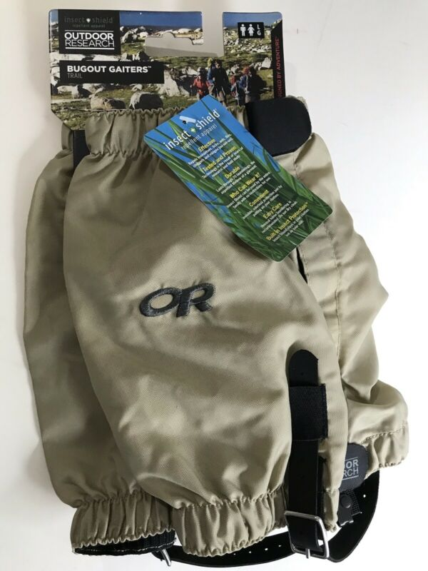NWT Outdoor Research OR Bugout Gaiters Unisex L Trail Wear Repels Bugs