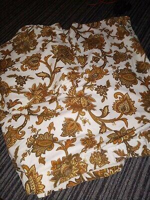 vintage pair of st michael curtains  Cotton