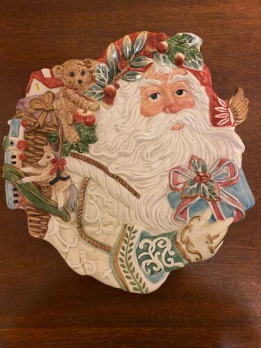 "Fitz and Floyd Classics 10"" Enchanted Holiday Santa Christmas Plate"
