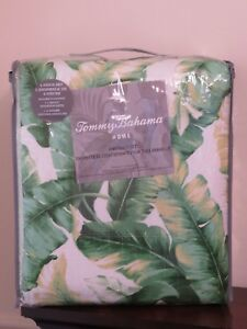 TOMMY BAHAMA ANGUILLA BOTANICAL TROPICAL PALM  KING QUILT SHAMS 3 PIECE SET NEW