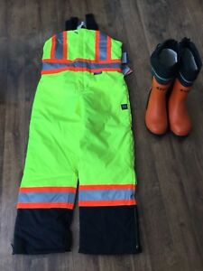 Still Chainsaw Boots size 10 and Insulated Overalls size M