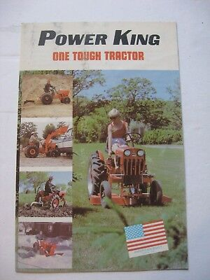 1980 Economy Power King Tractor Dealer Sales Brochure Estate Find
