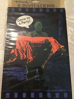 Vintage Hallmark Cards Halloween Party Invitations New Old Stock The Mummy - Halloween Cards Invitation