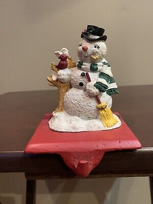 Vintage Trim a Home Snowman Stocking Holder