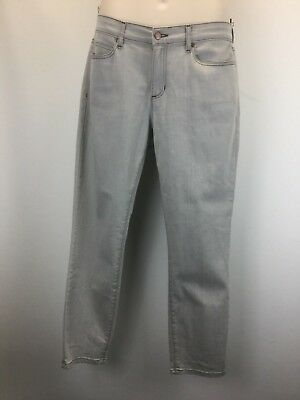 Eileen Fisher  Cotton Jeans Pants Slacks Sz 12 Large Medium Dove Gray Nice !