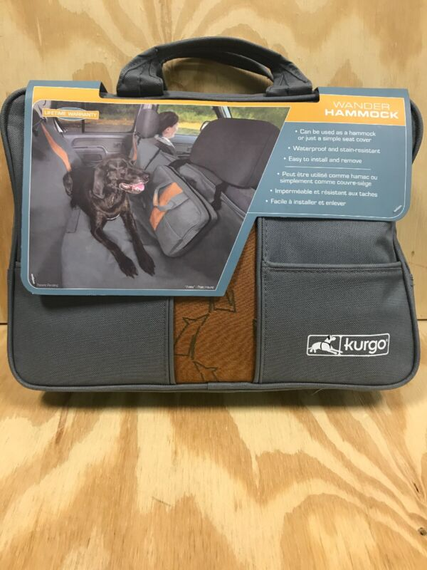 Kurgo Wander Dog Hammock & Seat Cover Gray/Orange