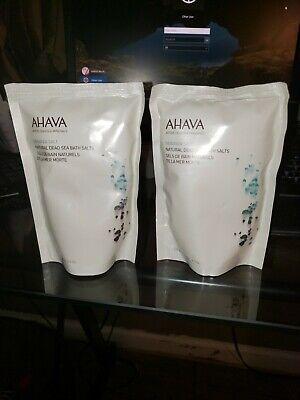 Lot of 2 AHAVA Dead Sea Salt Mineral Bath Salts, Muscle Soothing,2-8.5 oz. New (Mint Mineral Bath Salt)