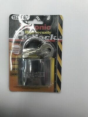 Trisonic 50mm Commercial Stainless Steel Laminated Padlock W 2