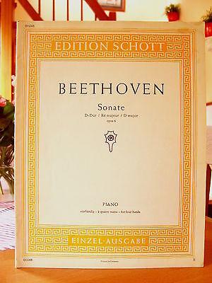 """Beethoven   """"Sonate D-Dur""""    Edition Schott 1048   Noten für Klavier"""