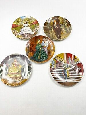 Lot of  5 Gone With The Wind Knowels Collectible Plates