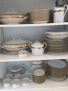 Set vaisselle 12 couverts Limoges