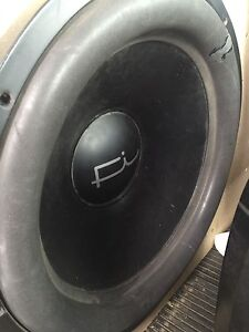 """18"""" subwoofer, ported box, and amp"""