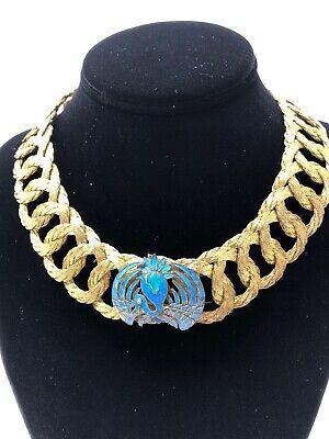 ESTATE Enamel Vintage Chinese Export Pheonix Bird  Filigree Collar Necklace ](Pheonix Costume)