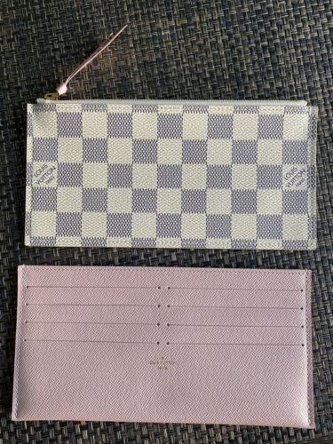 100 Authentic Louis Vuitton Felicie Pochette 2 INSERTS Damier Azur Rose