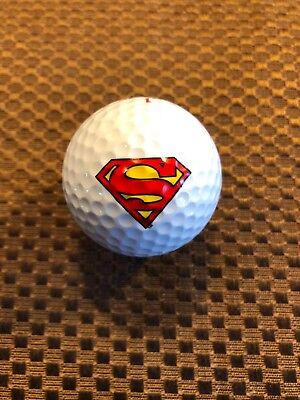 LOGO GOLF BALL-SUPERMAN...SUPERHERO...CARTOONS