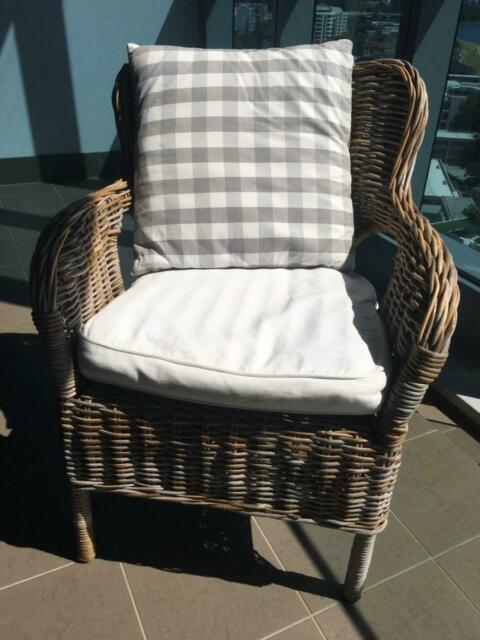 Wicker armchairs (x4) | Outdoor Dining Furniture | Gumtree ...