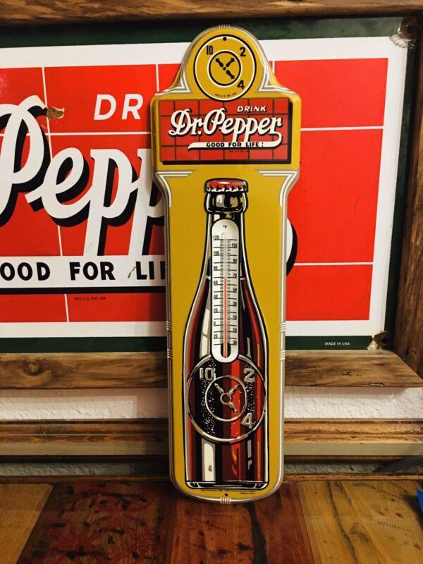 Dr Pepper Thermometer Sign NOS soda COCA-COLA PEPSI 7UP ORANGE CRUSH ROYAL CROWN