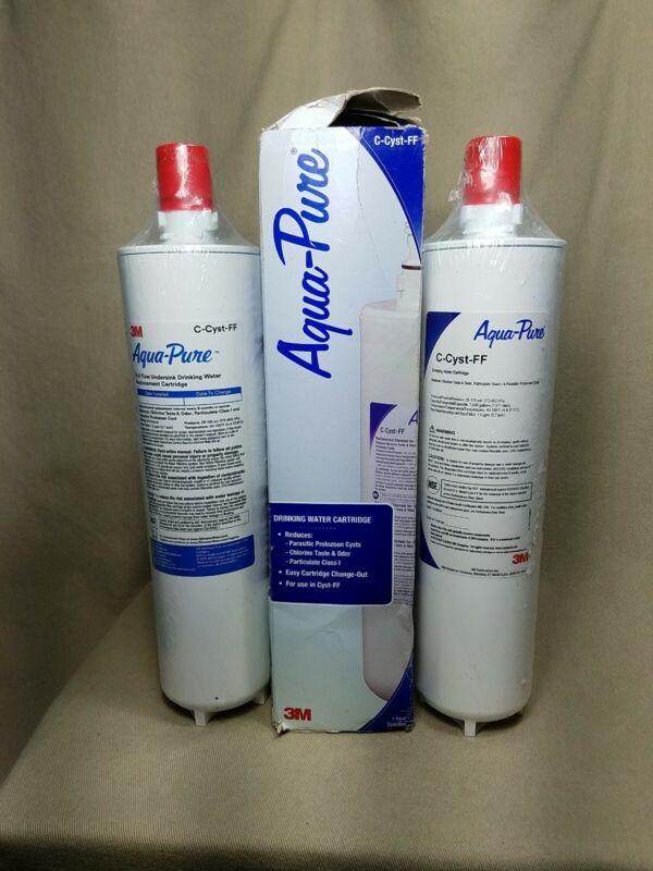 (3) Genuine 3M Aqua-Pure C-Cyst-FF Replacement Water Filter Cartridges