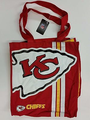 Nfl Kansas City Chiefs Reusable Canvas Shopping Tote  New