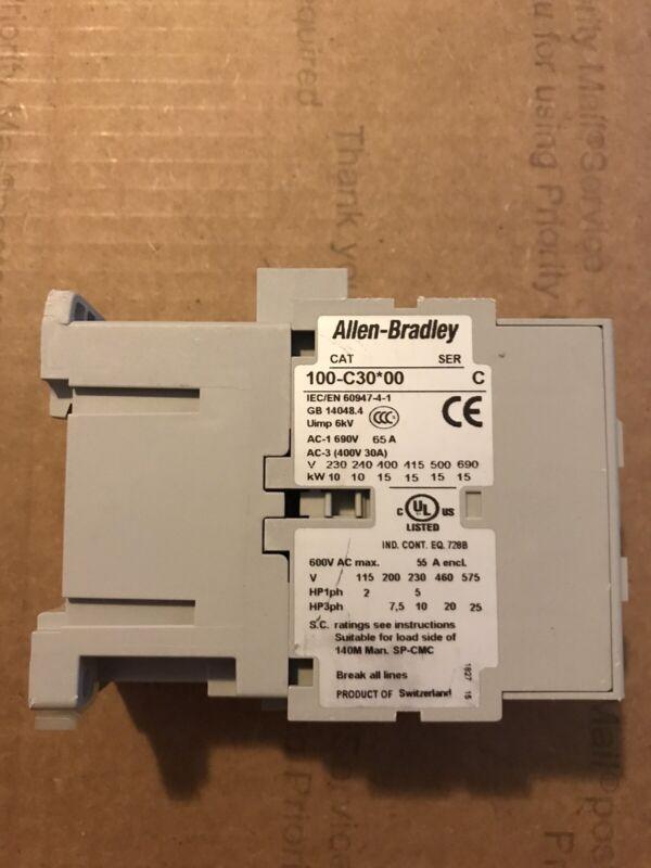 ALLEN BRADLEY CONTACTOR 100-C30D00 SERIES C BRAND NEW 100-C30*00