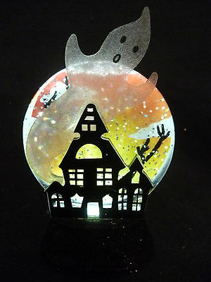 Hallmark Gift Bag Halloween Haunting House Ghost Snow Globe - Black Base NEW