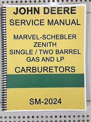 John Deere Carburetor Dealer Service Manual Repair Adjust Tuning Huge Book