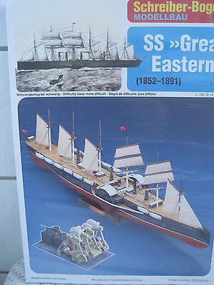 SS Great Eastern Schiff Kartonbausatz *NEU* Schreiber- Bastelbogen