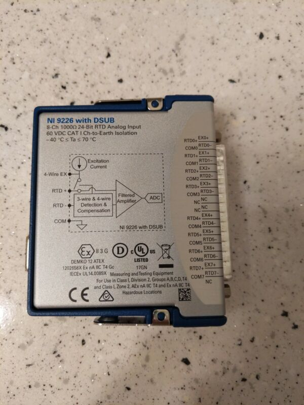 National Instruments NI 9226 cDAQ Temperature / RTD Input Module