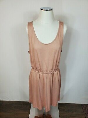 Basic H&M Pastel Pink Sleeveless Dress Large