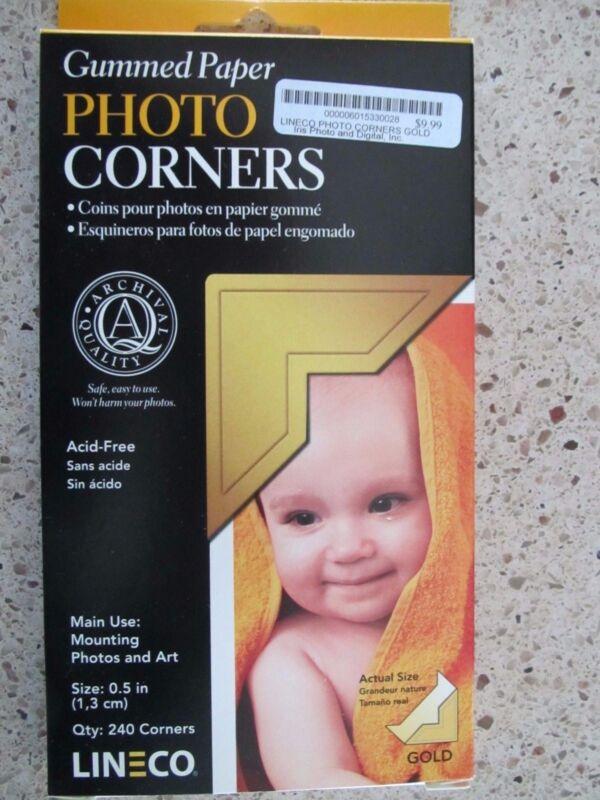 Lineco Gummed Paper Photo Corners Gold