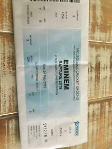 Eminem Rapture x2 tickets - SEATED