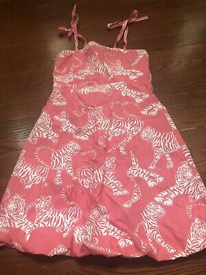 Pink Dress For Girl (Girl Lilly Pulitzer Pink Tiger Bubble Dress Spring Summer Size)