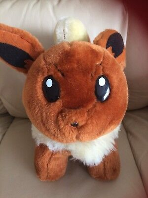 """Play by play Nintendo Pokemon Eevee brown plush toy,10""""tall,large plastic eyes"""