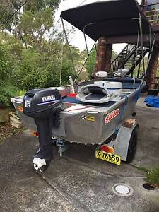 Bass Bream Boat Elect + Yamaha15 Kareela Sutherland Area Preview