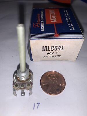 Mallory Mlc54l Potentiometer 50k Ohm . 4 Taper New In Original Box