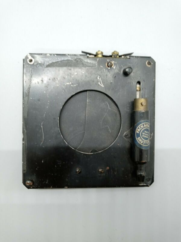 """Packard-Ideal Shutter, Large Format 1 3/4"""" opening, 4"""" board- free shipping"""