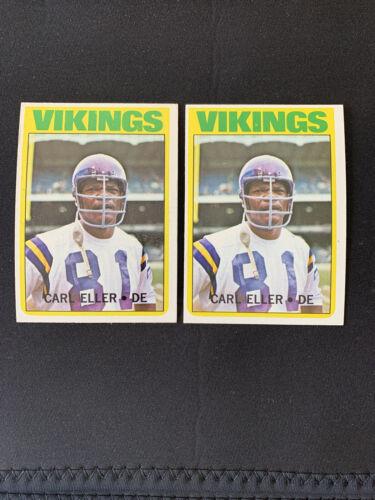 CARL ELLER 1972 Topps Football Card 20 Minnesota Vikings HOF - $8.00