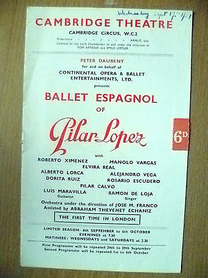 Cambridge Theatre - Ballet Espagnol of PILAR LOPEZ