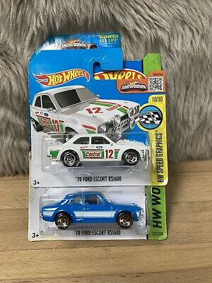 2 Hot Wheels Ford Escort Mk1 RS1600 Rally & Fast And Furious