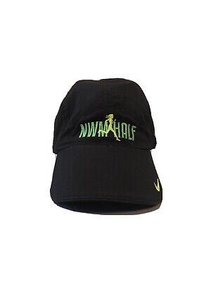 Nike Fitory Womens NWM Half Marathon Hat Cap Black Green Stretchy DC 2013