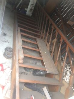 Stairs with balustrade,