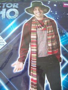 Dr Who  THE 4th DOCTOR  MENS  Tom Baker Adult Mens Fancy Dress Costume SIZE STD