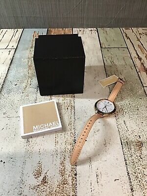 Michael Kors MK2284 Women's Rose Gold Tone Analog Watch - Used * Dead Battery*