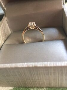 Beautiful 0.37 CTTW, 14K gold Arctic Brilliance Engagement Ring