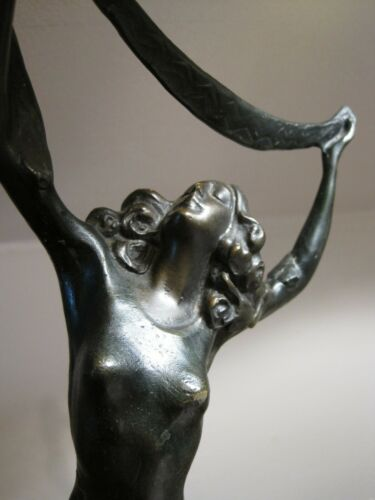 ART DECO ISADORA DUNCAN BY CHIPARUS BRONZE SCULPTURE - STATUE MARBLE BASE SIGNED