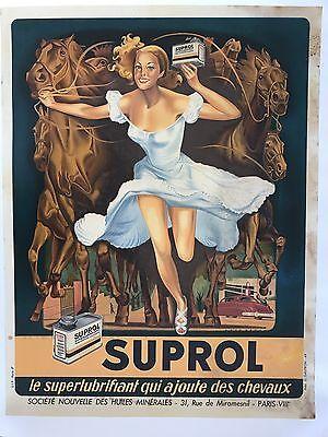 Original Vintage Poster Suprol ca.1949 by Rene Peron