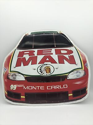 RED MAN Chewing Tobacco Tin Advertising Sign #99 Monte Carlo Kevin Lepage NASCAR