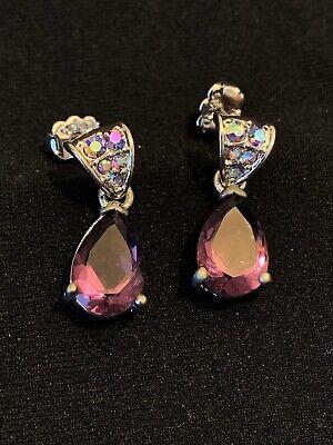 Avon Pear Drop Amethyst Earrings Avon Amethyst Earrings
